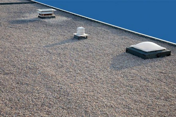 Built up roof systems are composed of alternating layers of bitumen and reinforcing fabrics that create a finished membrane. They typically include multiple layers of felt or ply, bitumen of asphalt, tar, or adhesive, and an aggregate or other covering.